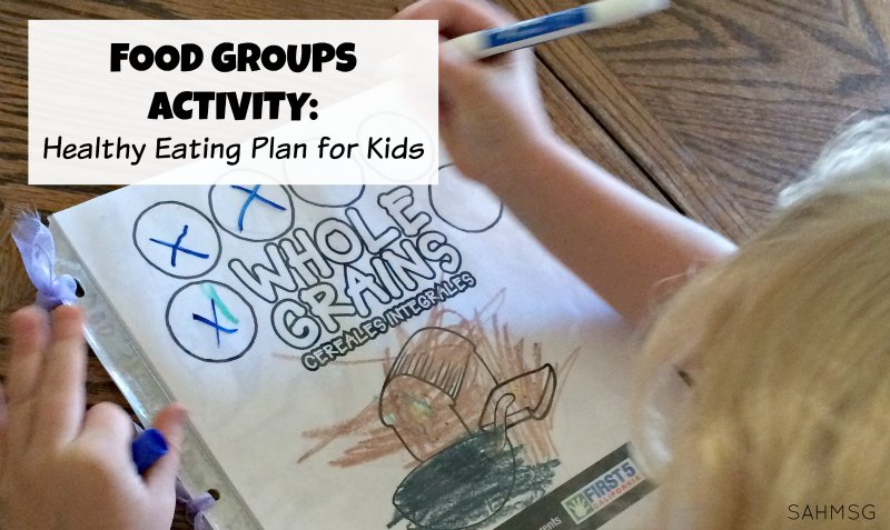 Food groups activity for kids to create a hands-on healthy eating plan with free printables from First 5 CA.