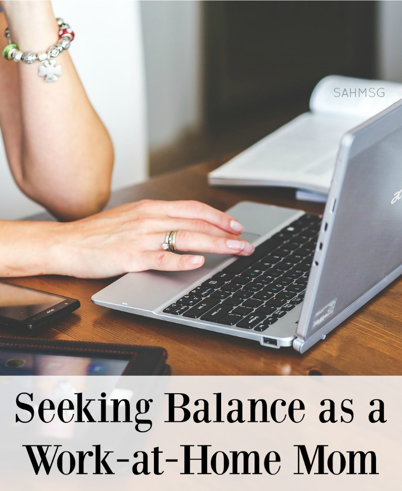 I never wanted to be a work-at-home mom. Trying to juggle work and kids seemed like too big a task to tackle. Life had other plans. SAHMs share how they balance working at home while focusing on caring for their families in this mom blogger blog hop