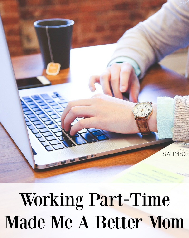 Is working part time an option for you? One mom says being a stay-at-home mom was not meant for her, but working part time helped her become a better mom. Great option for moms not content to be SAHMs.