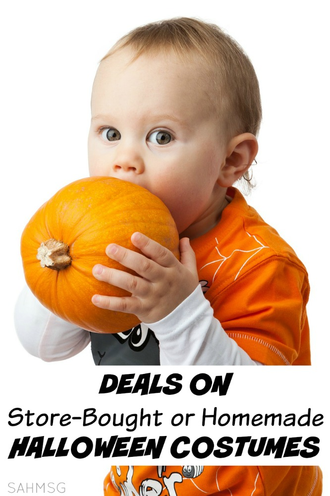 A list of super deals and savings on Halloween costumes for kids whether you want to buy costumes or make them. Costumes as low as $12 and savings as big as 50% off!