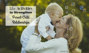 Over 55 activities for kids to do with parents when you get one-on-one time with your child. These are really helpful for fostering a stronger parent child relationship.