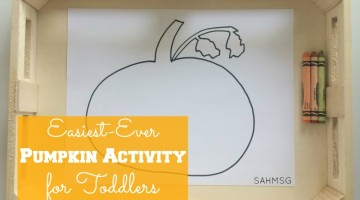 The easiest ever pumpkin activity for toddlers or preschool! No free printable needed-you can handle this no matter what your art skills. This buys you time while you prep for your holiday events.