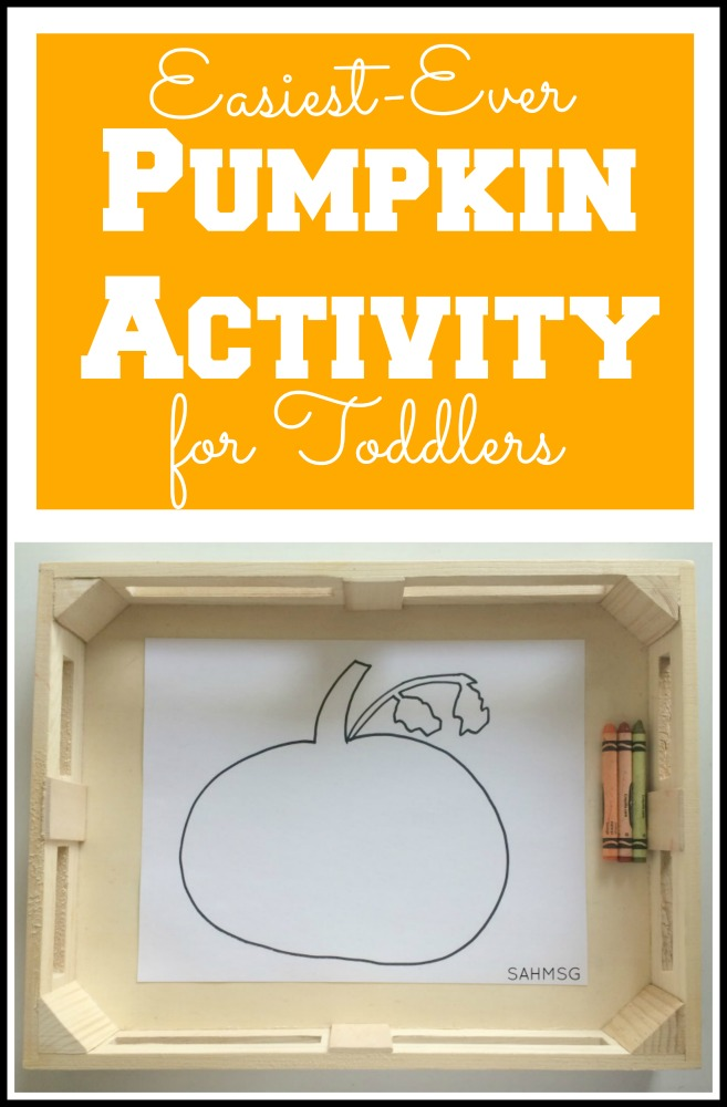 Got a toddler? This is the easiest pumpkin activity ever for toddlers! Great for preschool too.