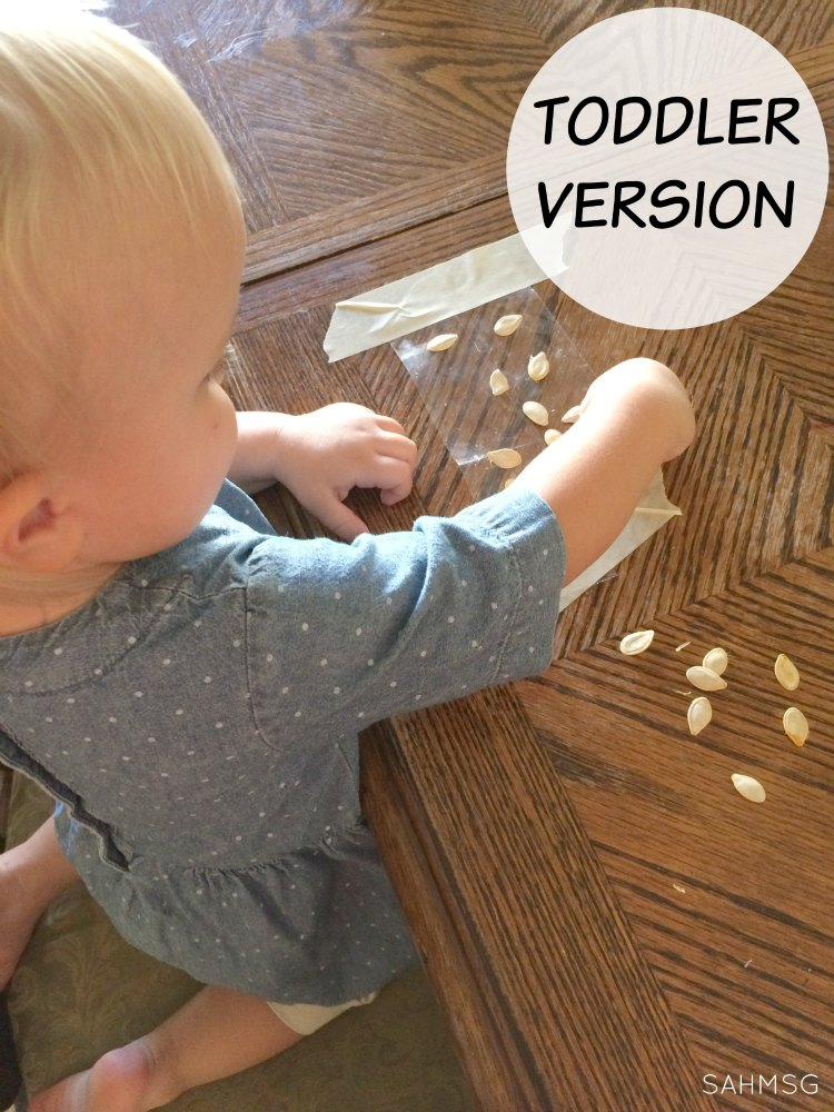 Adapting a fine motor activity for preschool into a toddler-safe version. This is such a simple way to take a preschool activity and try it with toddlers.