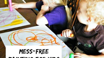 When kids paint, the mess can be too much. This solution allows kids to paint and create with little mess. It is a mess-free painting activity for kids...and a unique gift idea for kids.