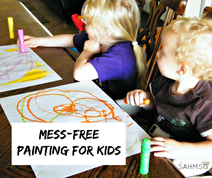 Mess-Free Painting for Kids - The Stay-at-Home-Mom Survival Guide