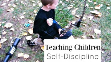 Teaching children self-discipline. Parenting tips and a unique activity for one-on-one time.