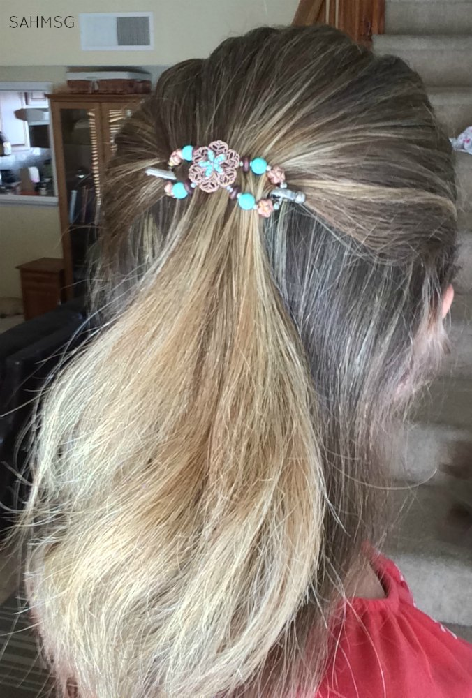 Lilla Rose flexi clip-an easy way to look put together as a mom.