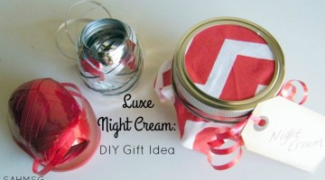 Homemade gifts save money and are more personal. This DIY night cream with essential oils is a luxurious and restorative night cream you can make in bulk as a DIY Christmas gift.