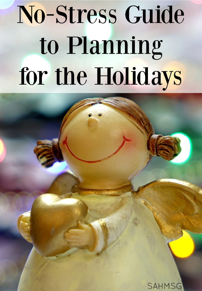 Stressed out with holiday planning? No need to be! This is a No-Stress Guide to Holiday Planning that will offer easy easy ways to stay organized and avoid getting overwhelmed this holiday season.
