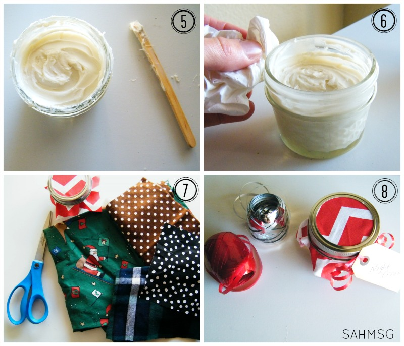 How to make a DIY night cream with essential oils to give as gifts. DIY gift ideas that can be made in bulk.