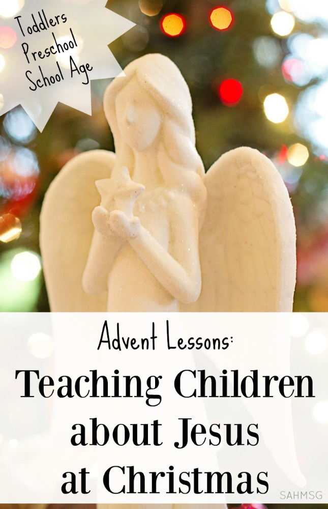 6 advent activities for toddlers, preschool and school age kids that teach children about Jesus at Christmas time.