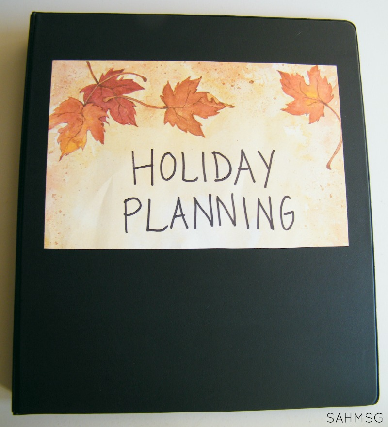 Create a holiday planning binder to stay organized and as stress free as possible this holiday season.
