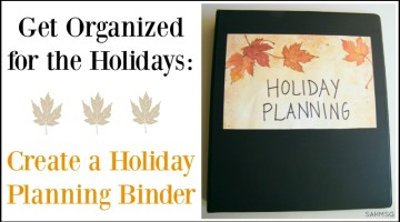 Create a holiday planning binder to get organized this holiday season. Simple tips for setting it up get you on the right track for your holiday planning.