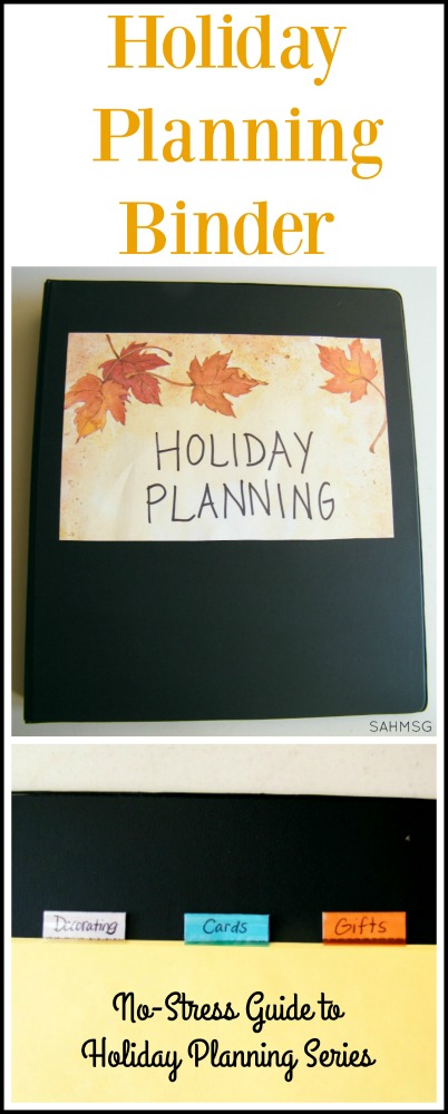 Get organized for the holidays with a simple but useful holiday planning binder. Tips, resources and free printable sites included to personalize.