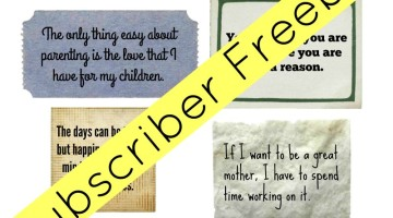Mom Motivation cards subscriber freebie