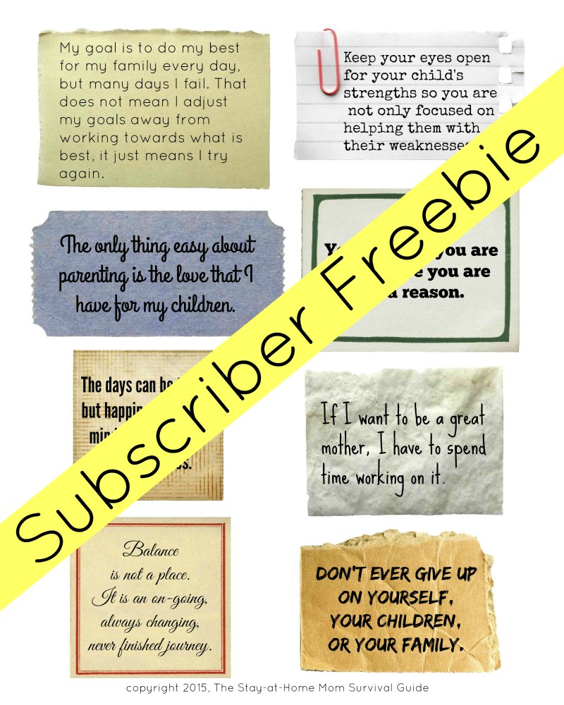 Mom Motivation Quotes (Subscriber Freebie) | The Stay-at ...