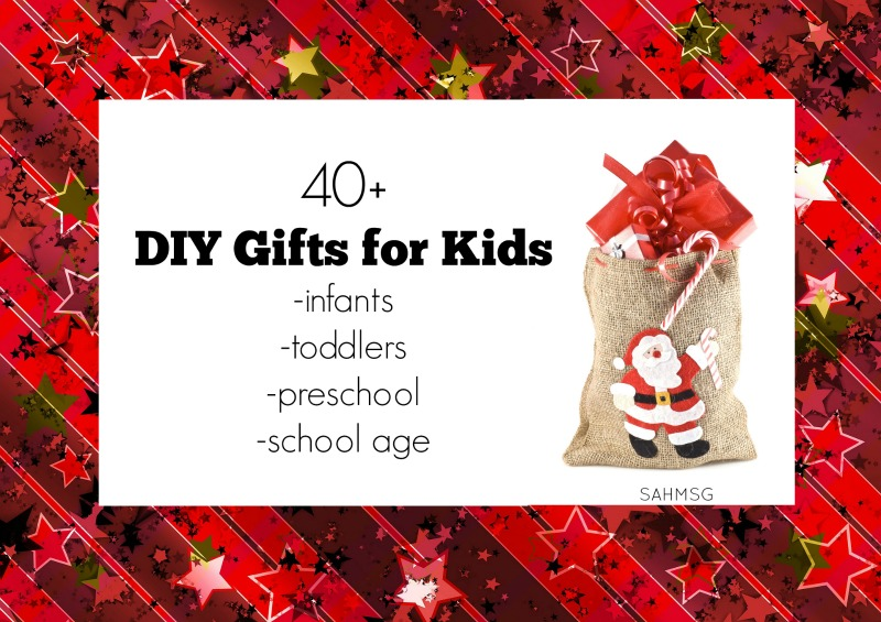 Over 40 DIY gift ideas for kids including gifts for toddlers, preschool and school age kids as well as stockig stuffers and classroom gifts from Kid Blogger Network bloggers.