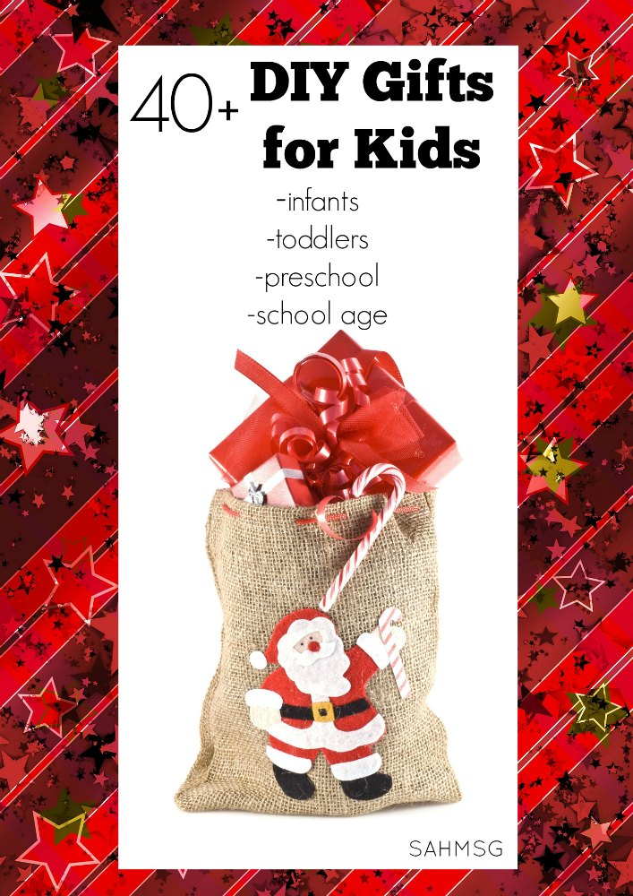 40+ DIY gift ideas from Kid Blogger Network bloggers that cover gifts for infants, toddlers, preschool, school age kids and stocking stuffers or classroom gift ideas.