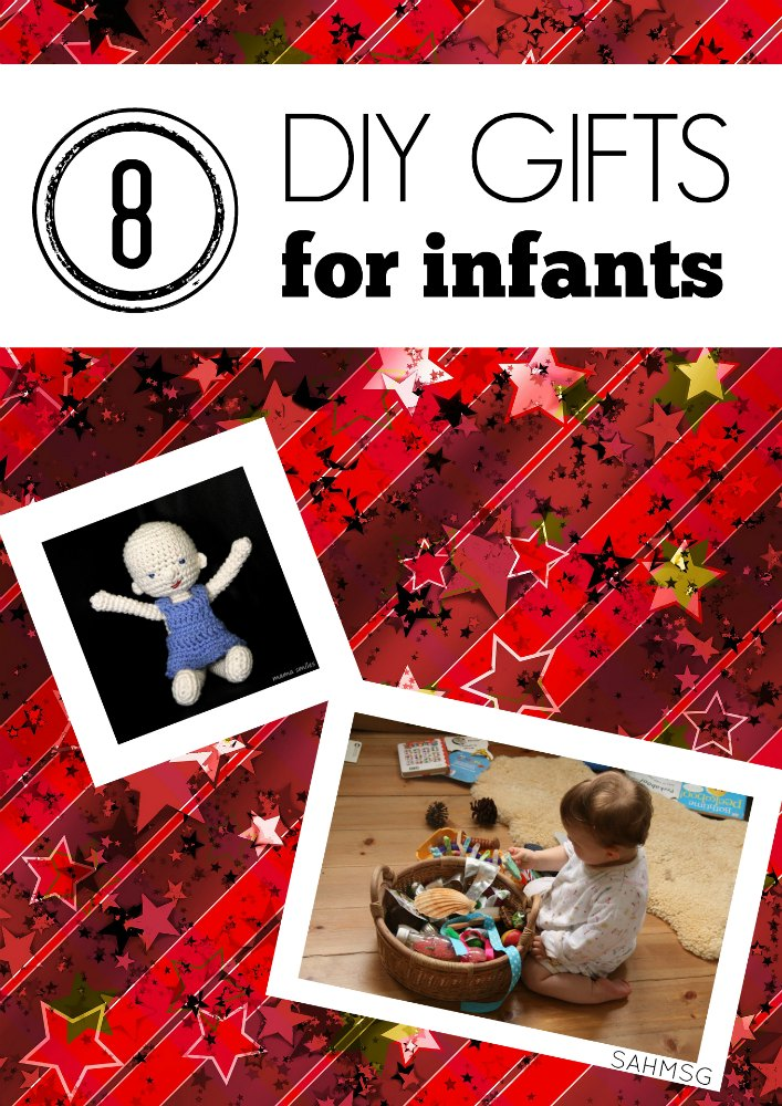 8 DIY gift ideas for infants. Great gift ideas for babies-and save money by DIY-ing since babies grow so fast!