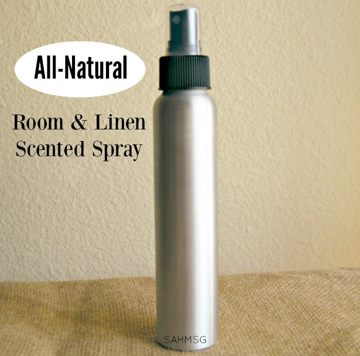 Ditch the un-natural chemical air fresheners and fabric sprays! Make an all-natural room and linen spray-it takes less than 5 minutes to make and smells great.