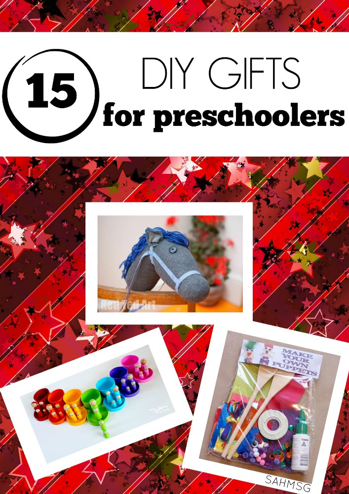15 DIY gift ideas for preschool ages children. These DIY gifts for kids are simple and allow preschoolers to explore rather than get bored.
