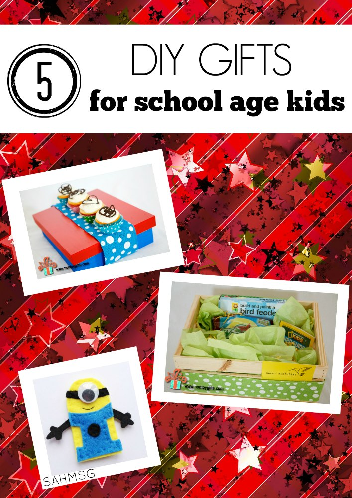 5 creative ways to DIY gifts for older kids. School age kids can explore these DIY gift ideas and learn life skills.