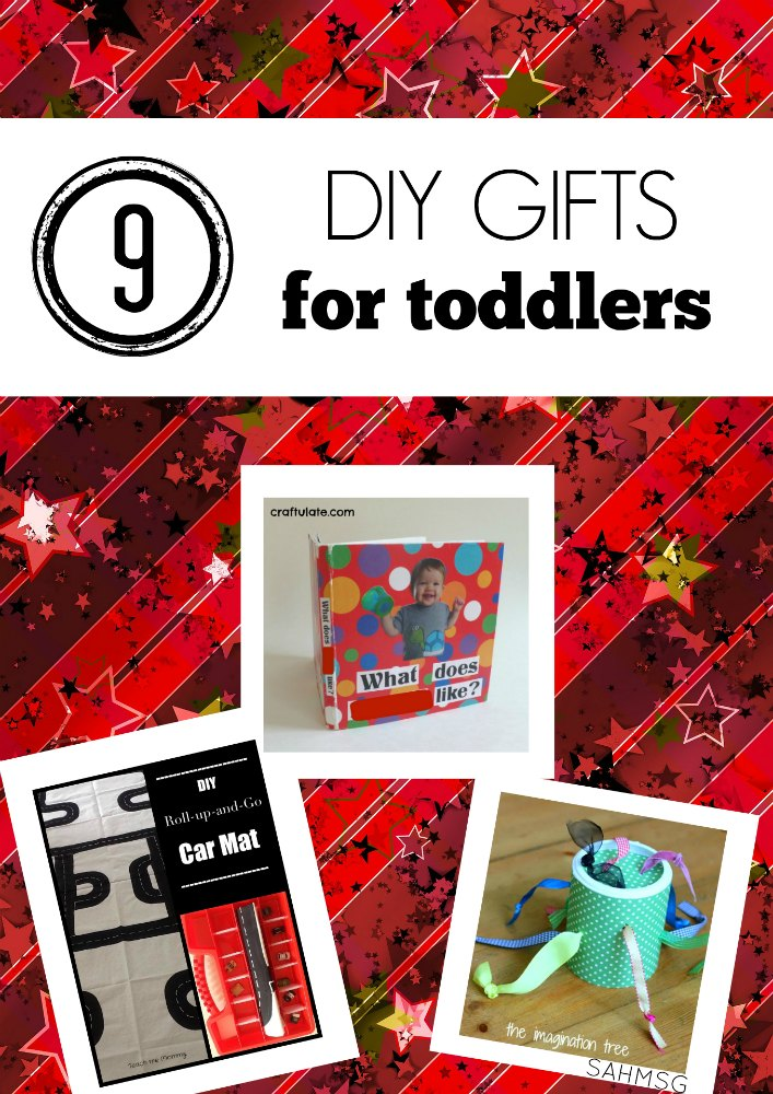 9 DIY gifts for toddlers. These DIY gift ideas for kids are perfect for little ones learning to move and explore their senses.