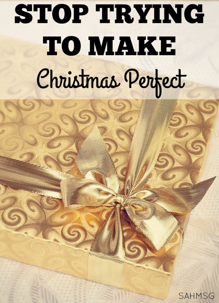 STOP! Stop trying to make Christmas perfect. Don't let the to-do list and the decorations get in the way of what Christmas can teach our children.