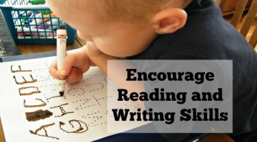 7 tips to encourage reading and writing skills in young children. These simple tips can start at birth to encourage reading and writing throughout early childhood.