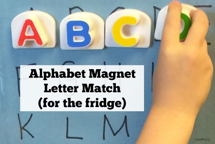 Preschool letter matching activity plus a no-stress way to assess their letter knowledge with a game.