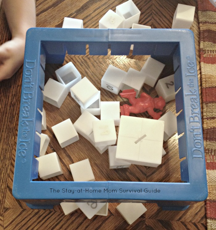 Turn your Don't Break the Ice game into a preschool activity for learning numbers. PLUS toddler modifications so they can play too.
