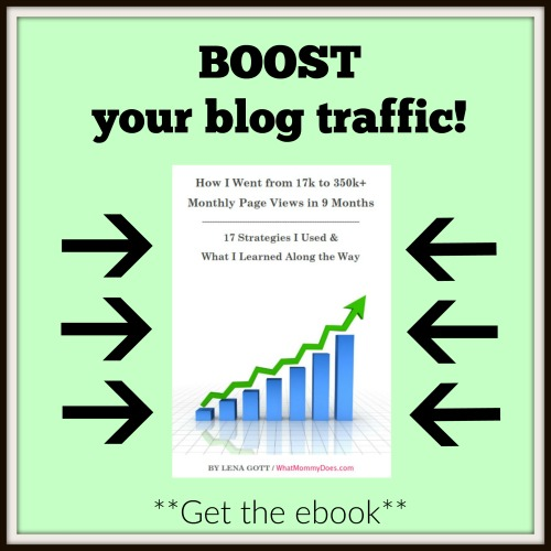 Boost your blog traffic ebook! 17 strategies that increase pageviews.
