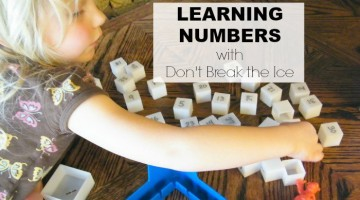 Turn your Don't Break the Ice game into a preschool activity for learning numbers. PLUS, toddler activity ideas too!