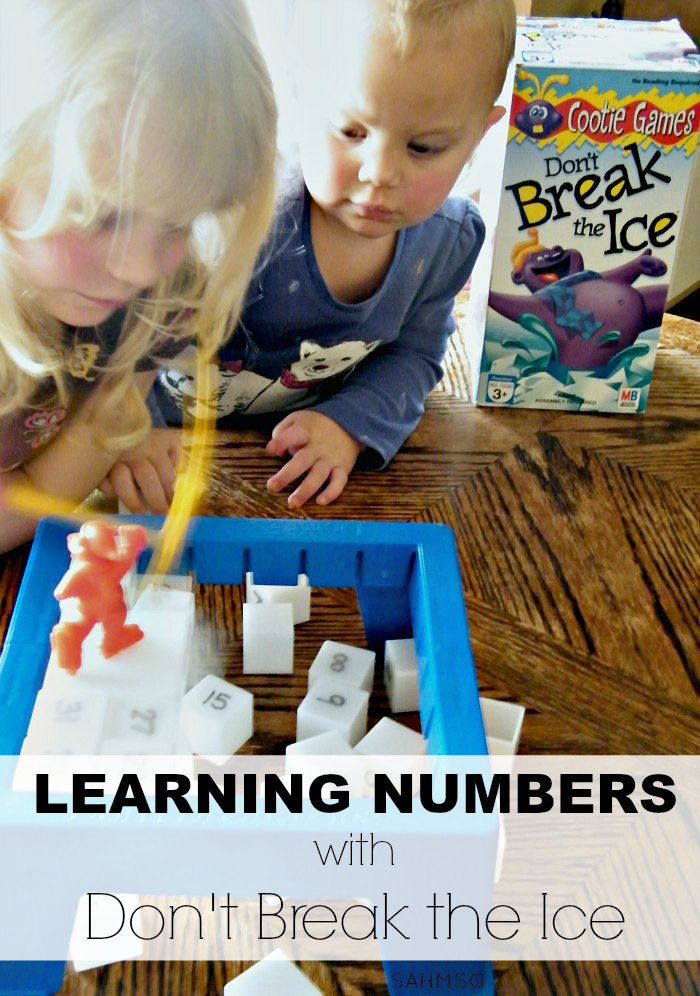 Turn your Don't Break the Ice game into a preschool activity for learning numbers. PLUS included toddlers activities so they can play too.