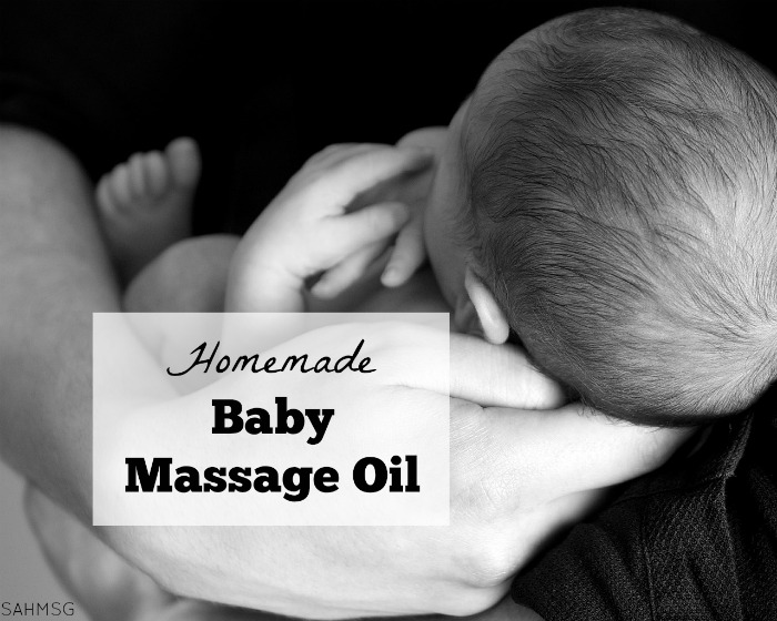 Make homemade baby massage oil-and it is a great all-purpose massage oil or moisturizer too. So easy to customize.