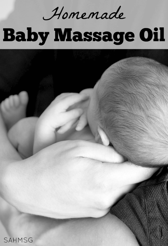 Homemade Baby Massage Oil (or adult massage oil) made with 2 ingredients!