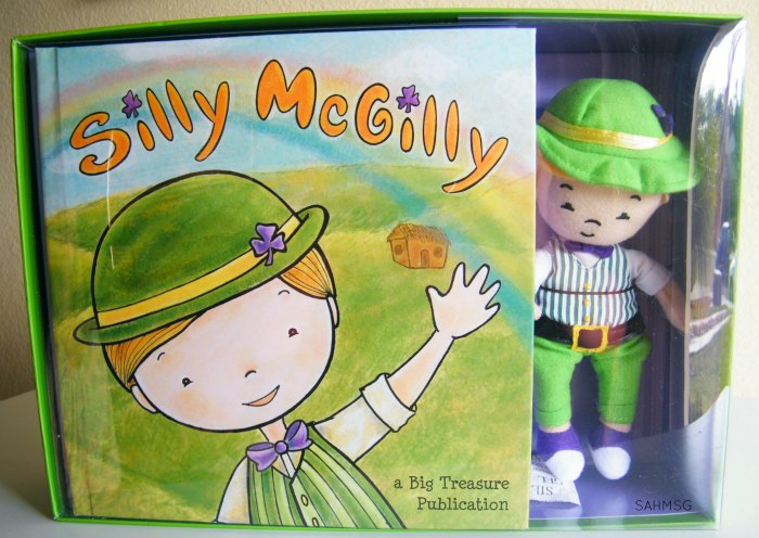 Silly McGilly book and toy set-a fun St Patrick's Day and Spring activity for preschool kids.
