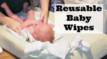 Make your own reusable baby wipes to support your baby's sensitive skin and save money with this DIY Reusable Baby Wipes idea and printable recipe.