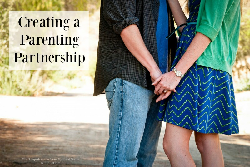 Creating a Parenting Partnership-Do you and your spouse struggle to find common ground in the face of parenting challenges. These 4 ideas helped my husband and I come together to form a close parenting partnership.
