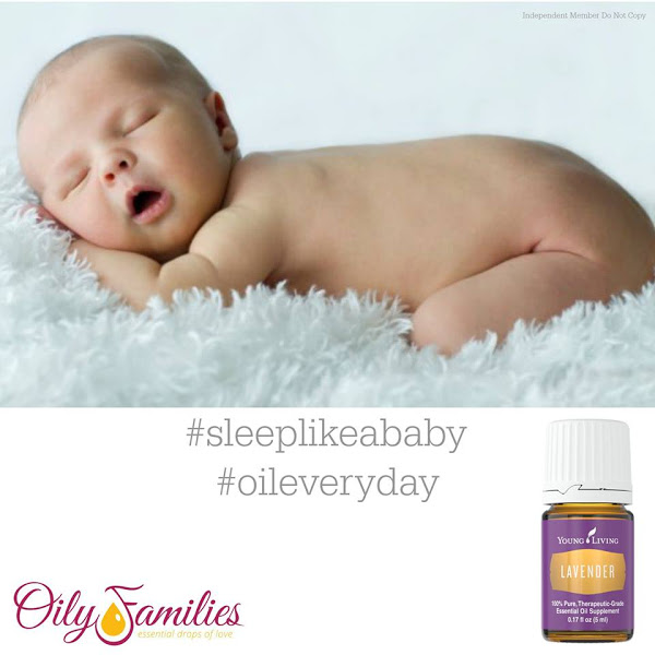 Homemade Baby Massage Oil with lavender.
