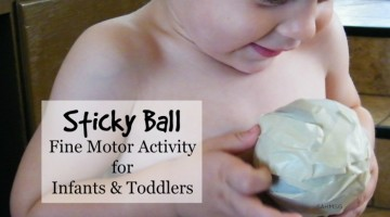 'Sticky Ball' Fine Motor Activity for Infants