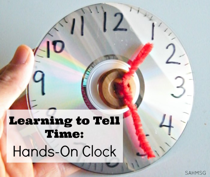 Make a hands-on clock sop kids can move the hands to learn to tell time. Great for second great common core math lessons on time.