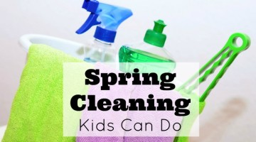 Get the kids spring cleaning too! These ideas are great ideas for spring cleaning kids can do even as young as preschool.