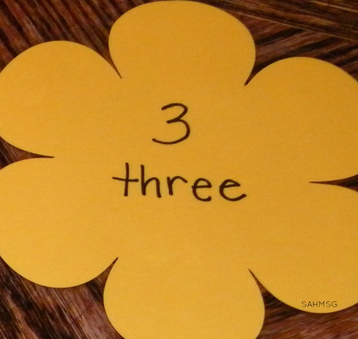 flowers and butterflies preschool counting activity number