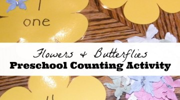 Flowers and Butterflies Preschool Counting Activity