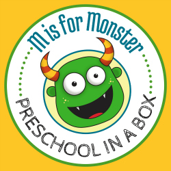 Preschool leariing kits that cost as little as $12- M is for Monster Preschool in a Box Preschool Activities.