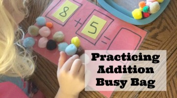Practicing Addition Busy Bag