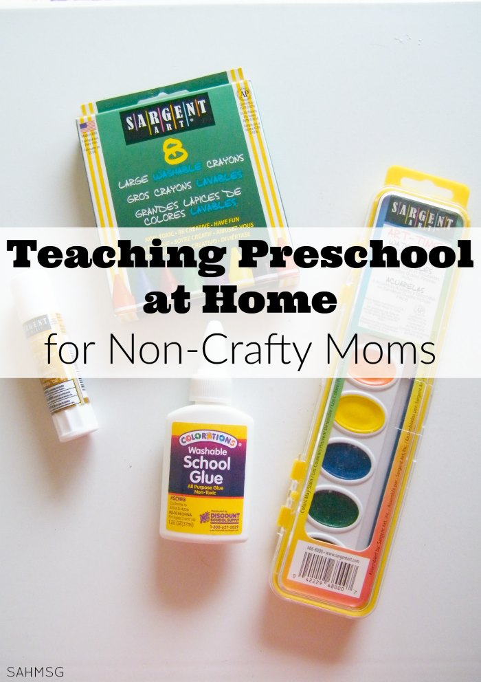 Teaching preschool at home for non-crafty moms does not have to be intimidating. Affordable resouces exist for teaching preschool at home. #sponsored