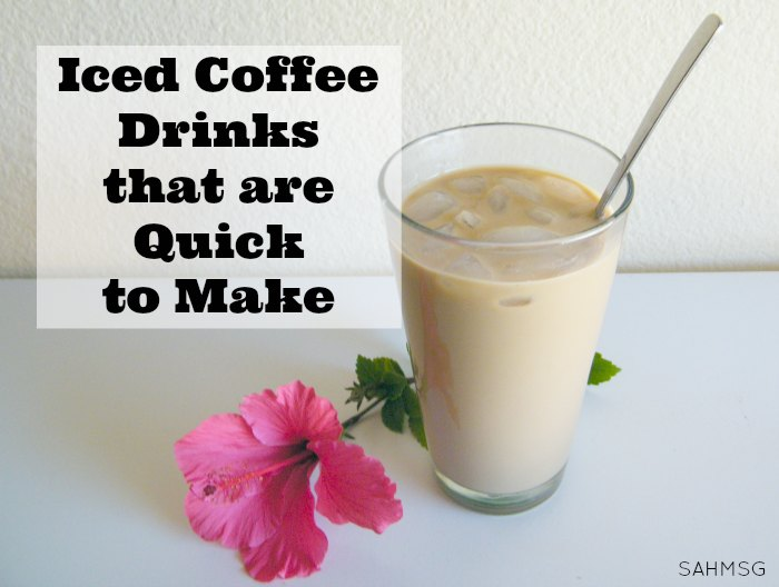 5 Iced Coffee Drink Recipes that take 5 minutes or less to make. Coffee drinks that are quick to make with simple ingredients and Folgers instant coffee. #sponsored